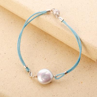 Armband mit Flat-Perle